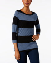 INC International Concepts Striped Boat-Neck Top, Only at Macy's