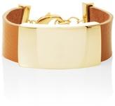White House Black Market Golden Bar Leather Bracelet
