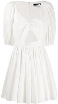Rotate by Birger Christensen Knot-Detail Miini Dress