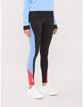 Puma Tonal-striped high-waisted stretch-jersey leggings