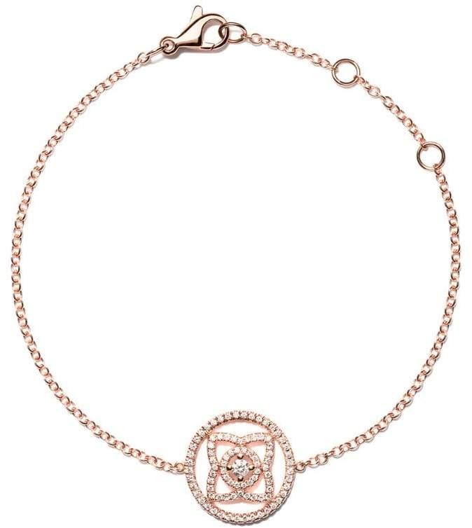De Beers 18kt rose gold Enchanted Lotus Openwork diamond bracelet