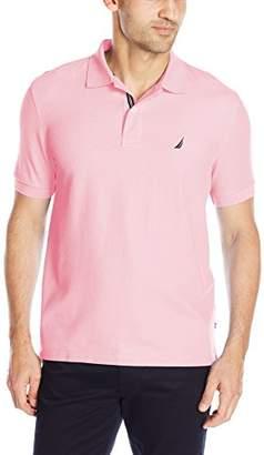 Nautica Men's s/s Solid Deck Shirt Classic Fit Polo,L