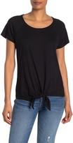 Sanctuary Front Tie Short Sleeve T-Shirt (Regular & Petite)