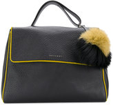 Orciani pom pom soft lined tote