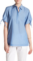 Joe Fresh Chambray Short Sleeve Blouse