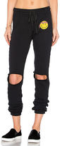 Lauren Moshi Sherri Happy Hippie Patch Sweatpant in Black. - size L (also in )