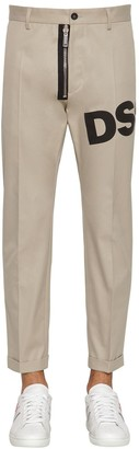DSQUARED2 17CM ADMIRAL FIT COTTON TWILL PANTS