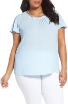 MICHAEL Michael Kors Plus Size Women's Chain Neck Flutter Sleeve Top