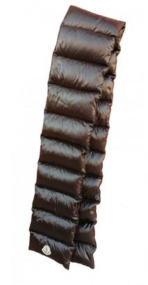 Moncler Black Polyester Scarves & pocket squares