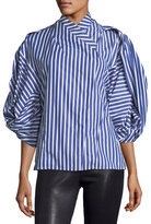 Awake Octopus Geisha Striped Poplin Top