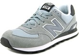 New Balance Ml574 Men Round Toe Suede Gray Sneakers.