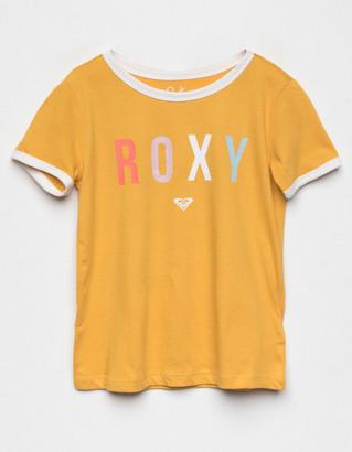 Roxy Come Alive Girls Ringer Tee (Little Girls, Big Girls)