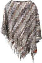 Missoni Pre Owned 2000's asymmetric fringed poncho
