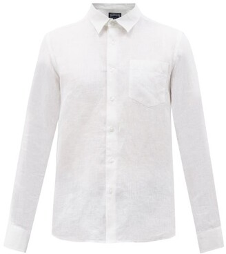 Vilebrequin Button-down Linen Shirt - Mens - White