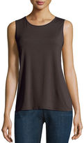Eileen Fisher Jewel-Neck Lightweight Jersey Tank