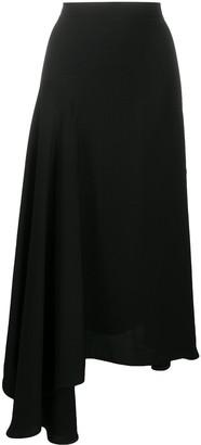 MSGM Asymmetric Houndstooth Skirt