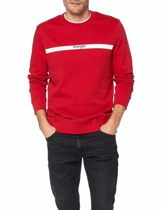 Wrangler Men's Stripe Logo Sweat Sweatshirt
