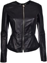 Philipp Plein Fitted Leather Jacket