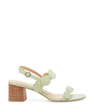 Sole Society Women's Shivaughn Circle Strap Sandals Mint Green Size 5 Suede From