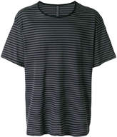 Attachment loose fit stripe T-shirt