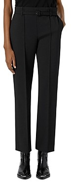 The Kooples Straight Leg Belted Black Suit Trousers