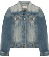 Simon Miller Keyes Cropped Distressed Denim Jacket - Mid denim
