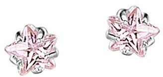 Jo for Girls Jo 4mm Pink Cubic Zirconia Star Sterling Silver Stud Earrings