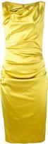 Talbot Runhof draped cowl-neck dress - women - Polyamide/Polyester/Spandex/Elastane/Viscose - 36