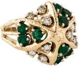 Ring Emerald & Diamond Cocktail