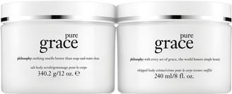 philosophy grace scrub & creme body treatment duo
