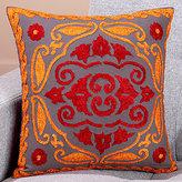 Medallion Stitch Toss Pillow, Red