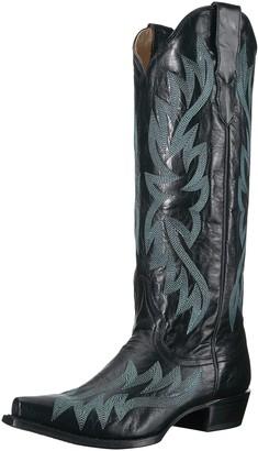 Stetson Women's Tori Western Boot Black 1 6.5 Medium US