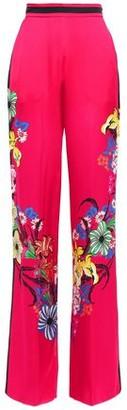 Etro Floral-print Satin-crepe Wide-leg Pants