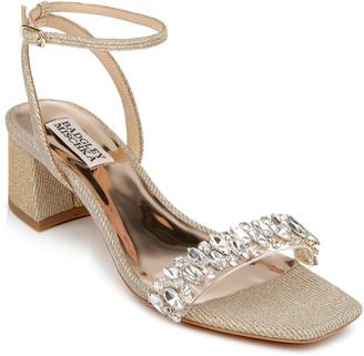 Harlow Crystal Satin Ankle-Strap Sandals