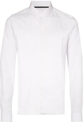 Haider Ackermann Frayed-Seam Buttoned Shirt