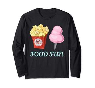 Cotton Candy Sweet Shop Food Fun Fairy Floss Cotton Candy and Sugar Floss Long Sleeve T-Shirt