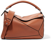 Loewe Puzzle Textured-leather Shoulder Bag - Tan