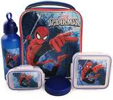 Marvel Boys' Spiderman 5 Piece Insulated Lunch Kit Set