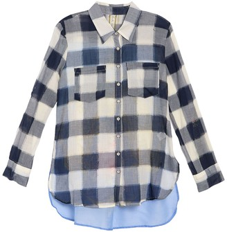 Aratta Michelle R Plaid Printed Top