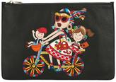 Dolce & Gabbana #DG family patch clutch - women - Calf Leather - One Size