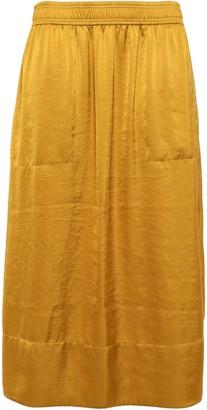 Theory Satin Midi Skirt