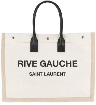 Saint Laurent Rive Gauche logo tote bag