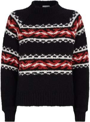 Sandro Fair Isle Knit Sweater