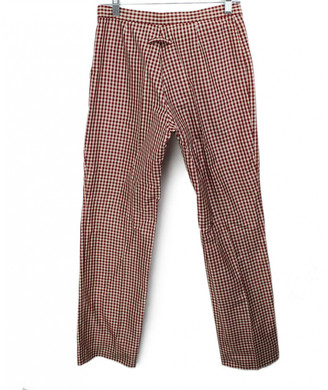 Jean Paul Gaultier Red Silk Trousers