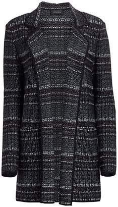 St. John Textured Boucle Tweed Knit Jacket