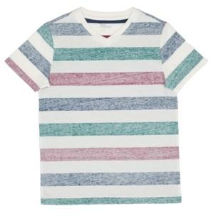 Epic Threads Big Boys Short Sleeve V-Neck Striped T-shirt