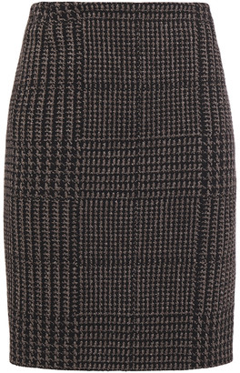 Akris Prince Of Wales Checked Cotton-blend Jacquard Mini Skirt