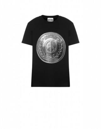 Moschino Jersey T-shirt Man Black Size 44 It - (34 Us)