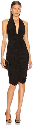 Norma Kamali Halter Slinky Dress in Black | FWRD