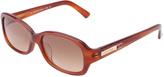 Calvin Klein Light Havana Rectangular Full-Rim Sunglasses - Women